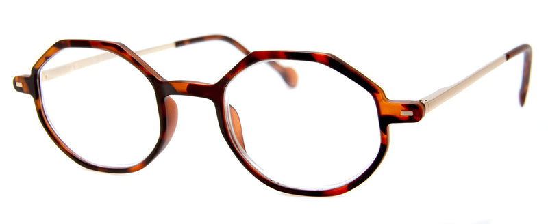 Tortoise - Hexagonal Reading Glasses for Men & Women