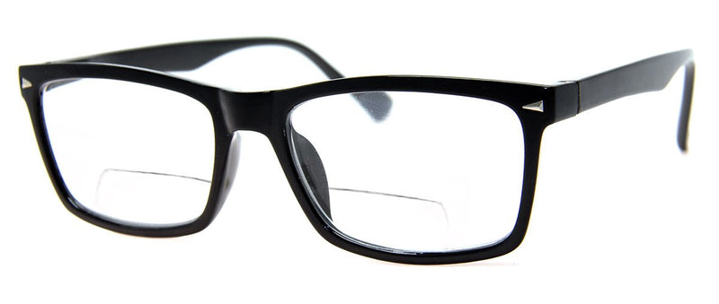 Black - Mens, Womens, Hip, Rectangular, Bifocal Reading Glass