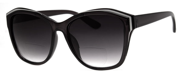 Black - Womens, Oversized, Bifocal Sunglass Readers