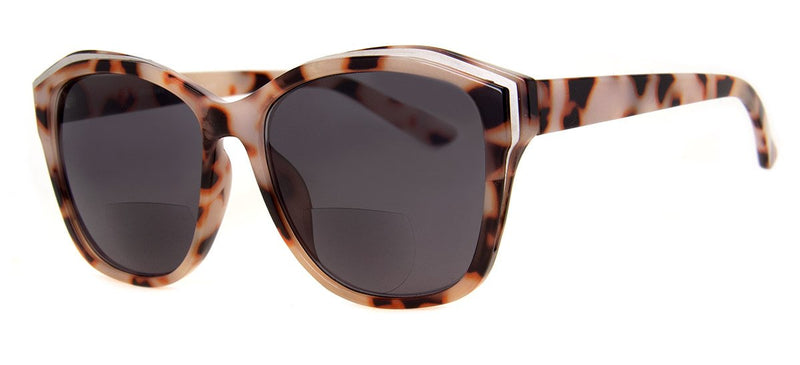 Light Tortoise - Womens, Oversized, Bifocal Sunglass Readers