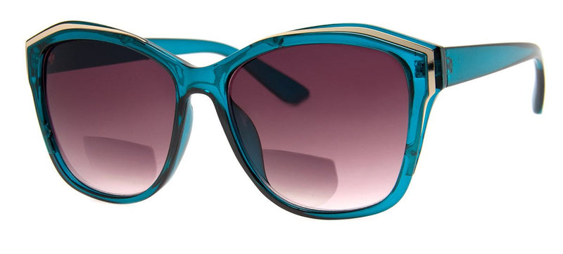 Teal - Womens, Oversized, Bifocal Sunglass Readers