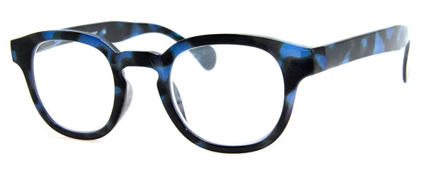 Blue Tortoise - Hip Round Reading Glasses for Women & Men