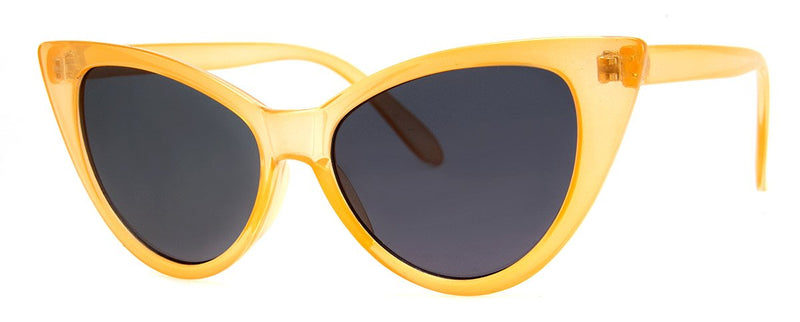 Champagne - Large Vintage Inspired Cat Eye Sunglasses for Women