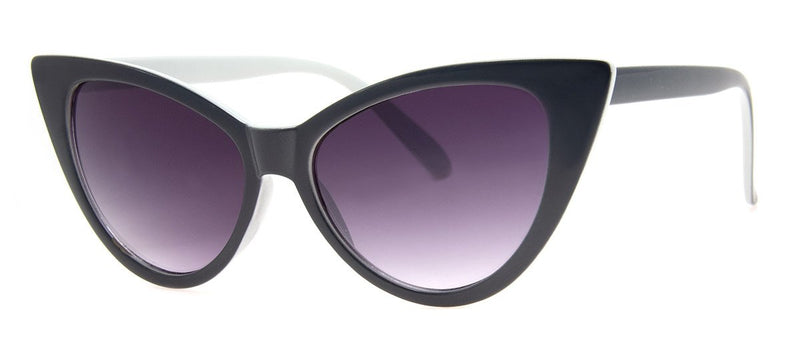 Grey - Large Vintage Inspired Cat Eye Sunglasses for Women