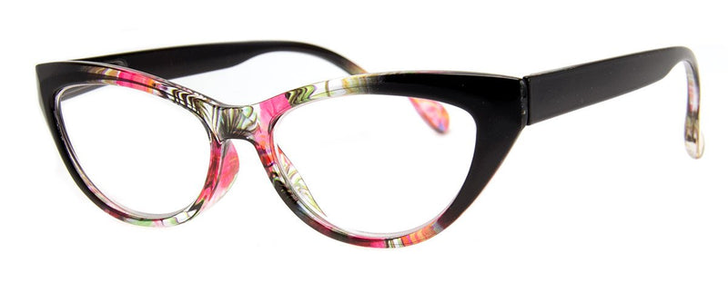 Black/Multi - Stylish & Hip, Cat Eye Reading Glasses for Women
