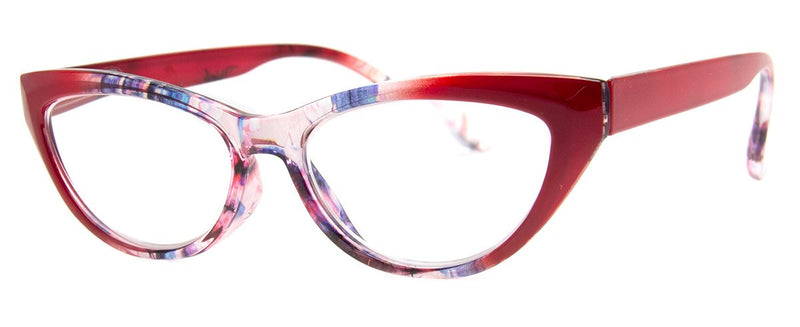 Red/Multi - Stylish & Hip, Cat Eye Reading Glasses for Women