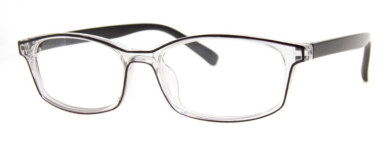 Black/Crystal - Stylish, Translucent Reading Glasses for Women