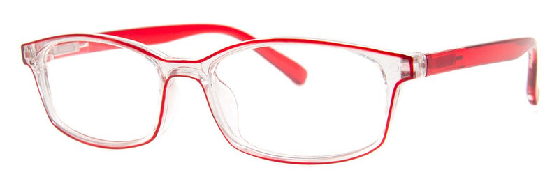 Red/Crystal - Stylish, Translucent Reading Glasses for Women