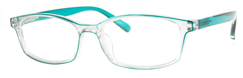 Teal/Crystal - Stylish, Translucent Reading Glasses for Women