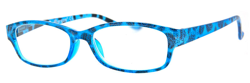 Blue - Cute Snake Skin Pattern Reading Glasses