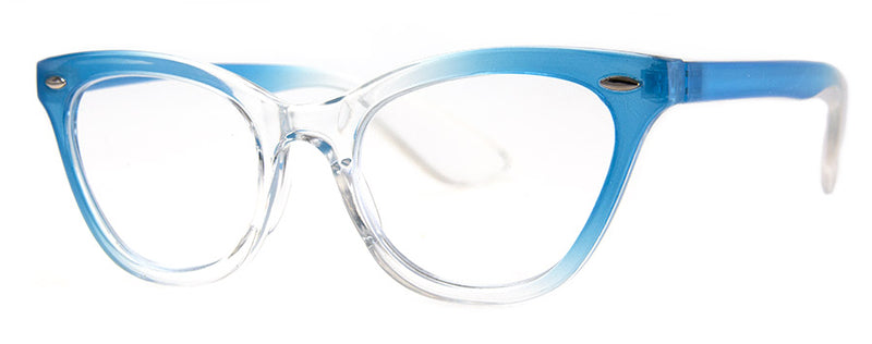 Blue - Stylish Cat Eye Reading Glasses