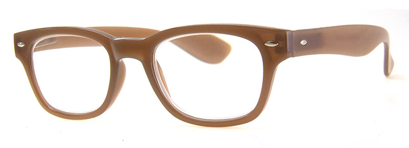 Brown - Stylish Rectangular Womens Reading Glasses