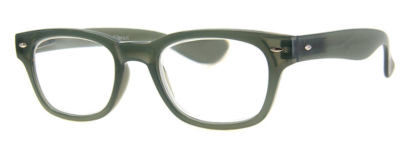 Green - Hip Rectangular Reading Glasses for Men & Women