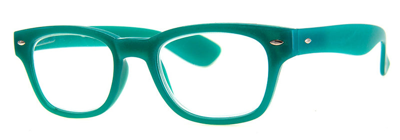 Teal - Hip Rectangular Reading Glasses for Men & Women