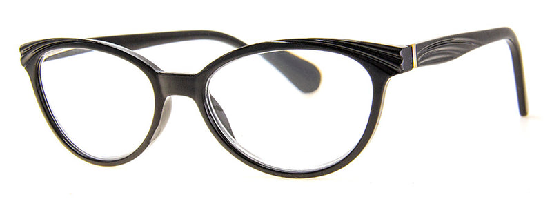Black Cute, Hip and Funky Cat Eye Reading Glasses