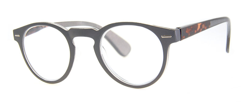 Grey Oval/Round Reading Glasses for Men & Women