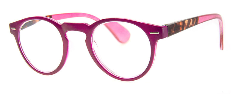 Pink Oval/Round Reading Glasses for  Women