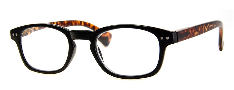 Black - Hip Rectangular Reading Glasses for Men & Women