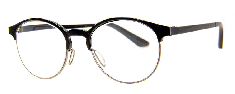 Black Round Metal Frame Reading Glasses for Men & Women