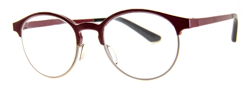 Red Round Metal Frame Reading Glasses for Men & Women