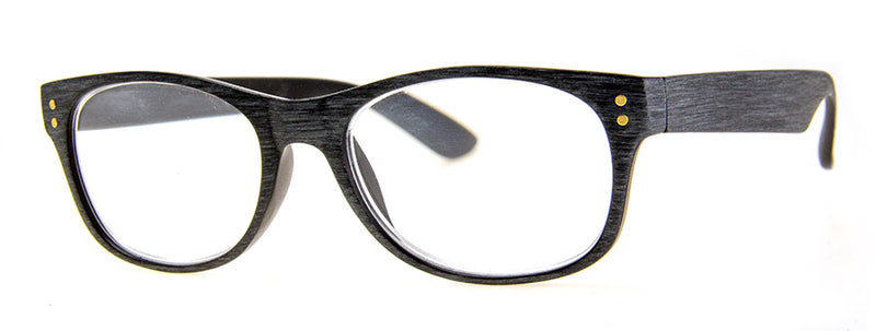 Grey Wood - Hip, Stylish, Rectangular, Wood Print Reading Glasses for Men & Women