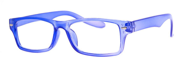 Blue - Mens, Womens, Hip, Stylish, Rectangular, Reading Glasses