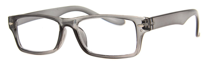 Grey - Hip Mens and Womens Rectangular Reading Glasses