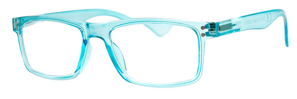 Turquoise - Mens, Womens, Hip, Stylish, Rectangular, Reading Glasses