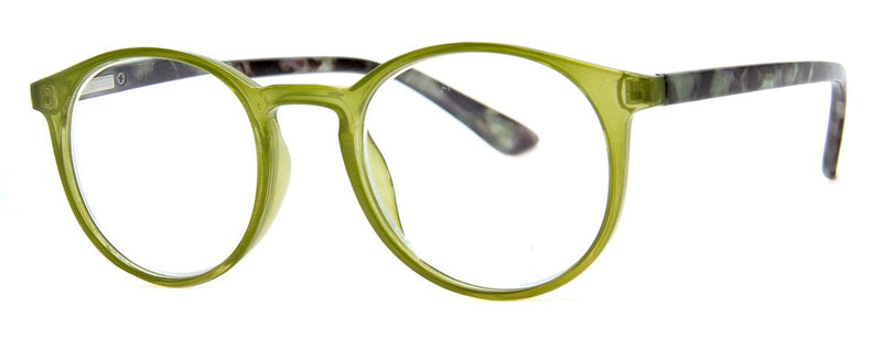 Green - Contemporary, Mens, New, Popular, Round, Womens, Reading Glasses