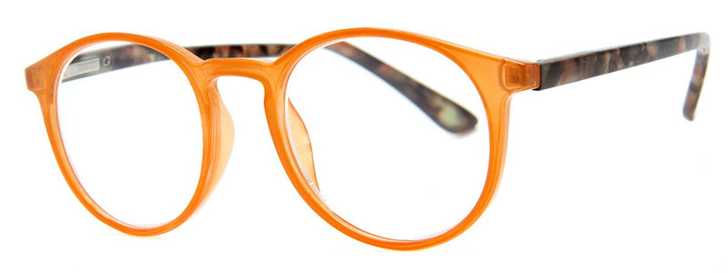 Orange - Contemporary, Mens, New, Popular, Round, Womens, Reading Glasses