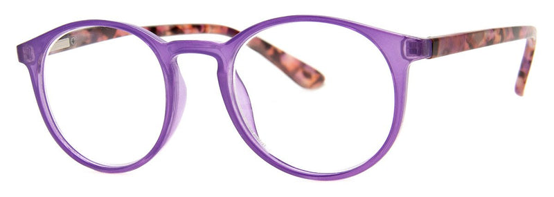 Purple - Contemporary, Mens, New, Popular, Round, Womens, Reading Glasses