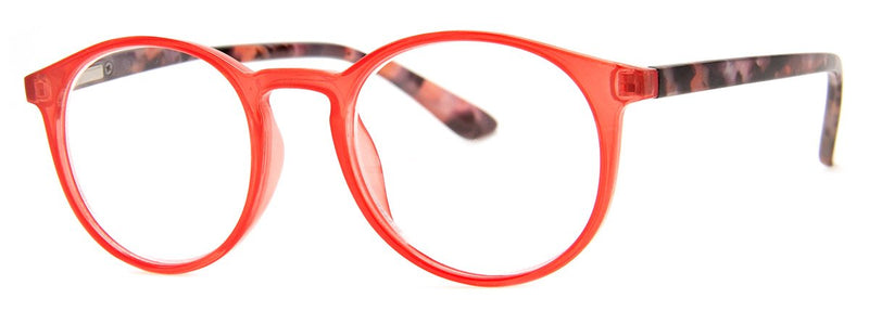 Red - Contemporary, Mens, New, Popular, Round, Womens, Reading Glasses