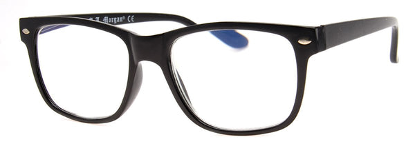Black - Mens, Womens, Rectangular, Computer Reading Glasses