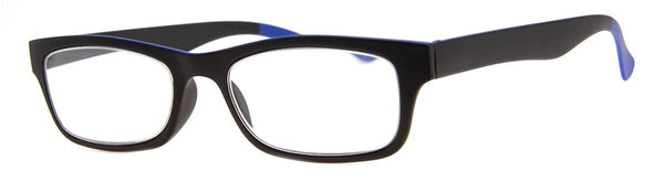 Black/Blue - Mens, New, Popular, Rectangular, Reading Glasses