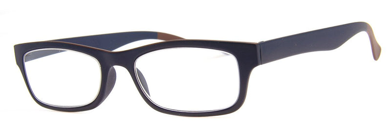 Blue/Brown - Mens, New, Popular, Rectangular, Reading Glasses