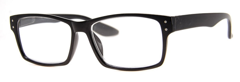 Black - Stylish Rectangular Reading Glasses for Men & Women