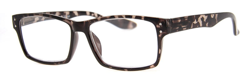 Grey Tortoise - Stylish Rectangular Reading Glasses for Men & Women