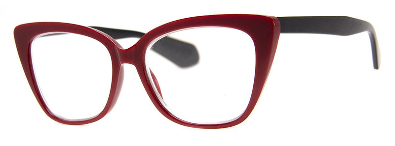Red - Large Cat Eye  Reading Glasses & Women