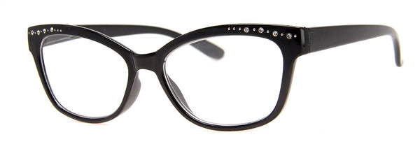 Black - Cute Cat Eye Reading Glasses for Women