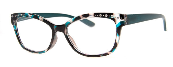 Blue Tortoise - Cute Cat Eye Reading Glasses for Women