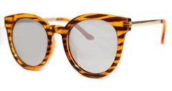 Brown Stripe Hip Cateye Sunglasses