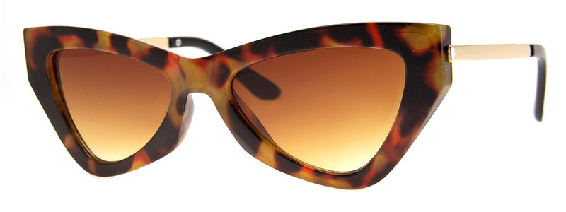Antique Tortoise - Funky, Vintage, Cat Eye Sunglasses for Women