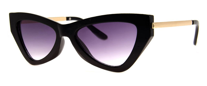 Black - Funky, Vintage, Cat Eye Sunglasses for Women