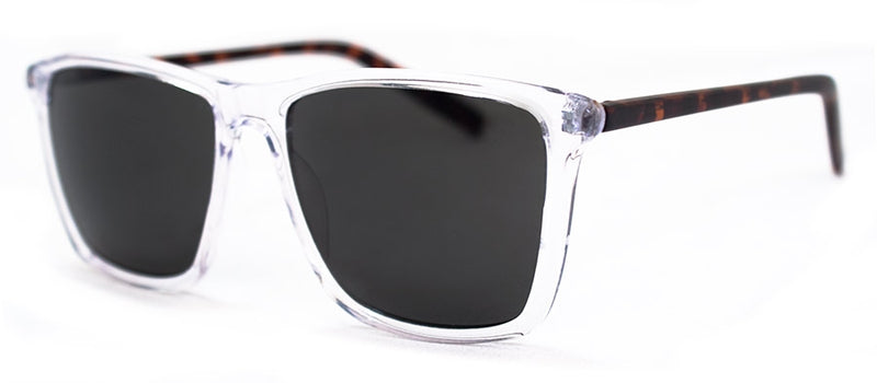Crystal/Matte Tortoise Rectangular Sunglasses