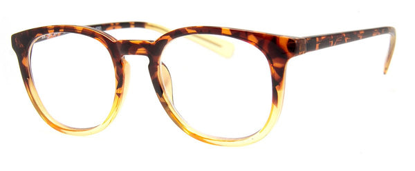 Tortoise/Yellow - Stylish & Hip Round Reading Glasses for Men & Women