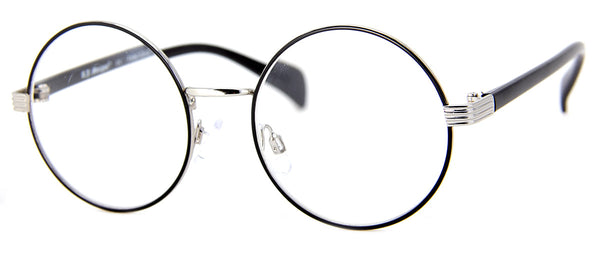 Black, Round Reading Glasses for Men & Women