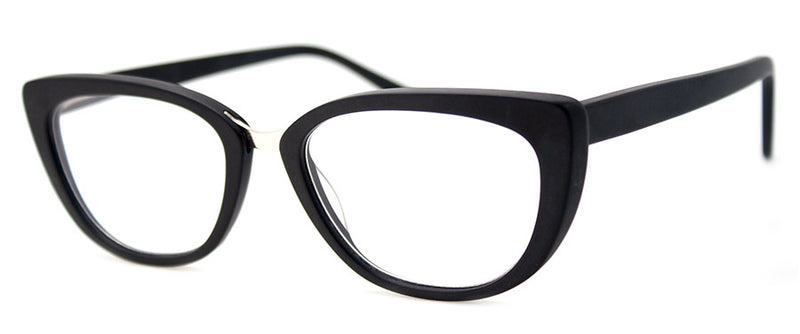 Matte Black -  RX-able | Optical Quality Cat Eye Womens Reading Glasses