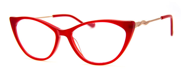 Red - Sexy cat eye reading glasses for women