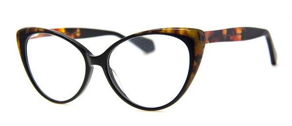 Black - Optical Quality Hip Cat Eye Reading Glasses