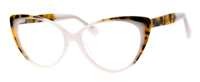 White - Optical Quality Hip Cat Eye Reading Glasses
